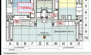 Карта МГТУ